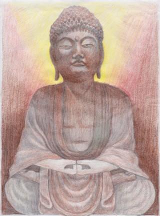 Barevná kresba podle zadání – Buddha/ A4